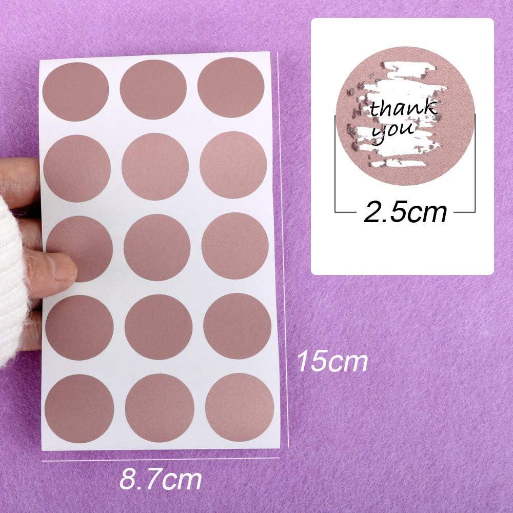 180pcs Cartes à Gratter Étiquette Scratch Card Sticker pour Or Rose