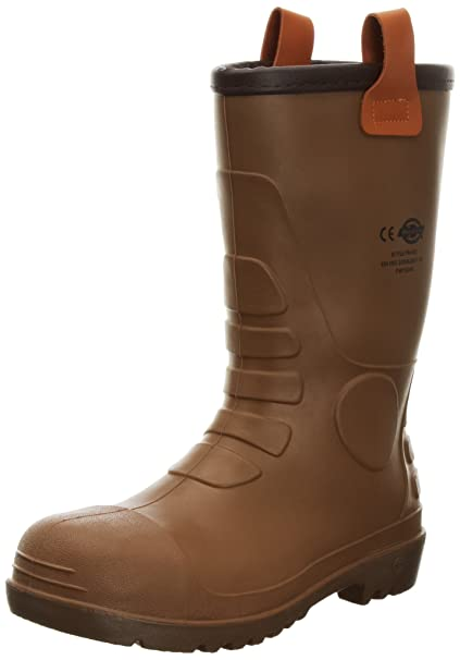 TALLA 43 EU. Dickies Supervivencia en aguas subterráneas - Botas de agua, Marrón (Brown), 43