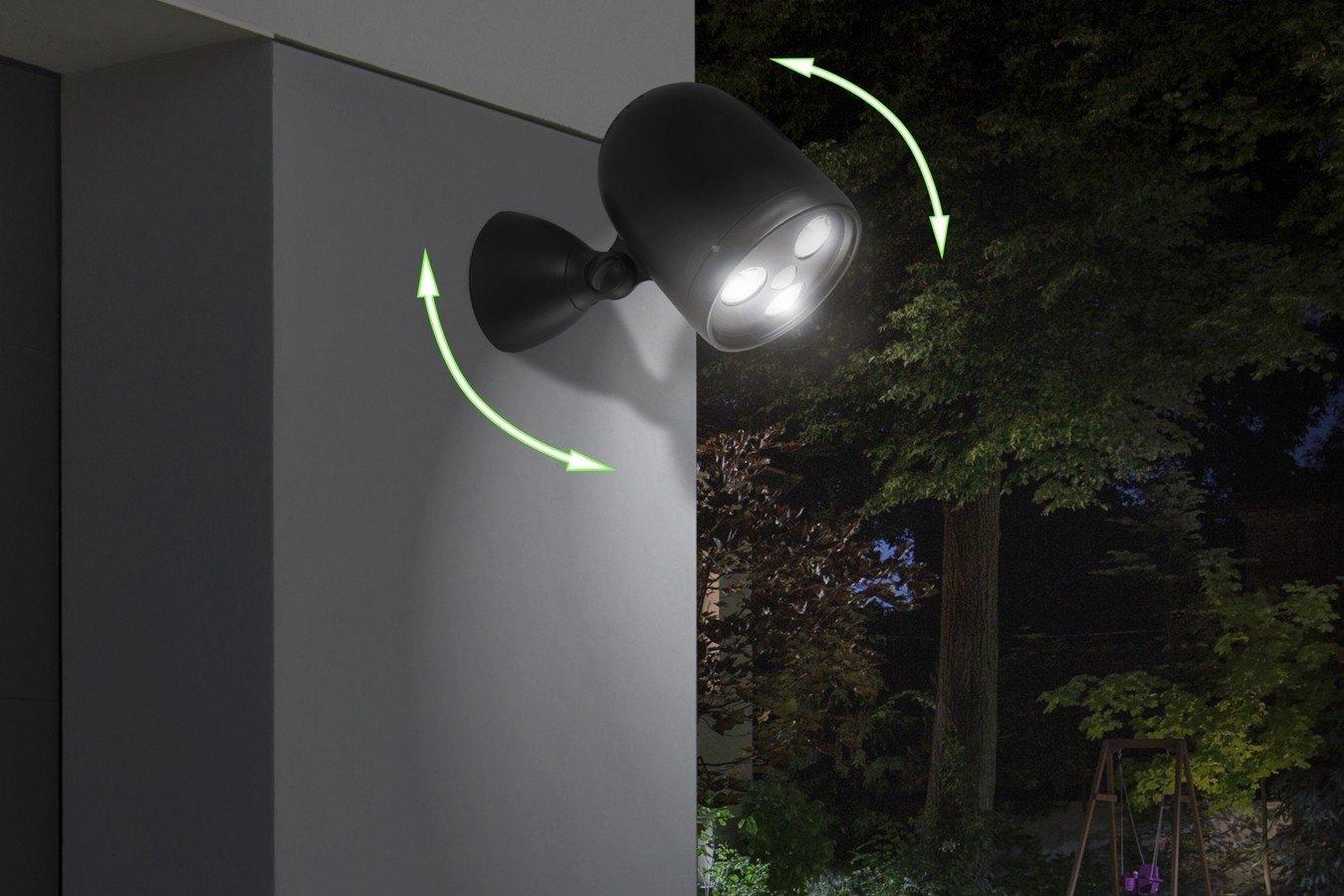 Iluminaci/ón de Seguridad Giratoria de 360/° de Pared Foco Inal/ábrico LED para Exteriores Patio Camino Para Jard/ín LED LOVERS Sensor de Movimiento con Luz de Exterior Terraza Garaje