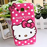 Hello Kitty Silicone With Pendant Back Case Cover For Samsung Grand Duos I 9082