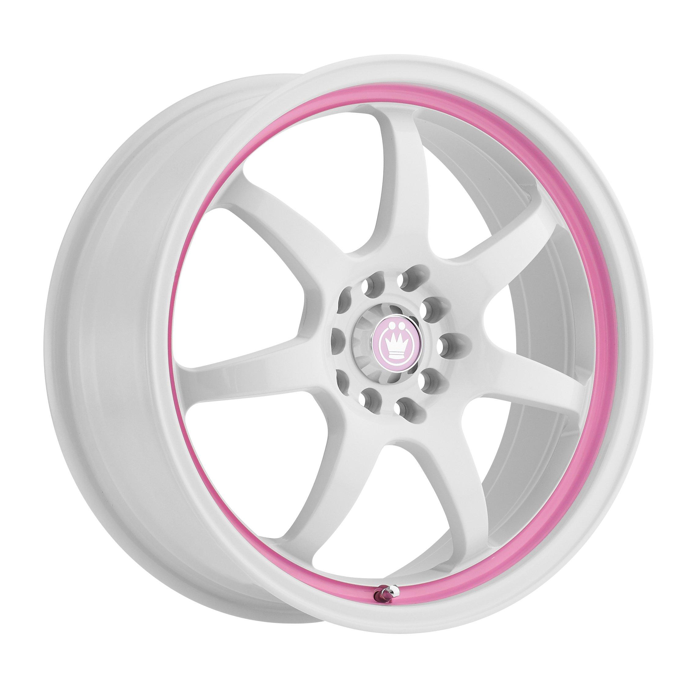 Konig-Forward-White-with-Pink-Stripe-Wheel-17x75x100mm