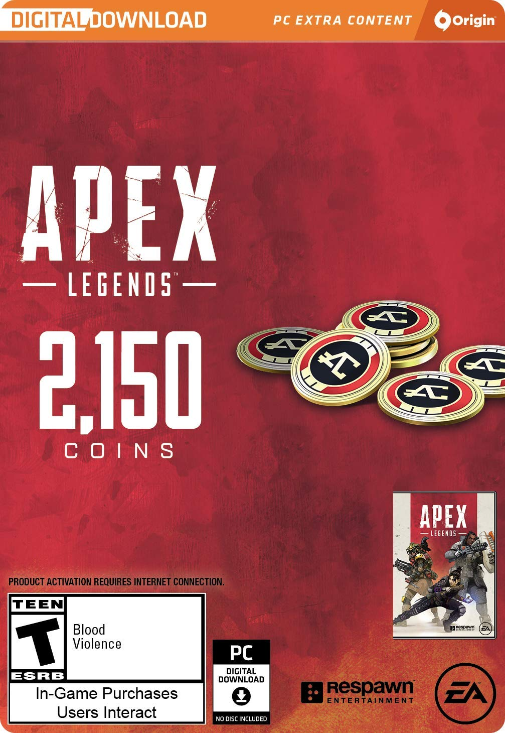 Apex Legends - 2,150 Apex Coins [Online Game Code] by Electronic Arts