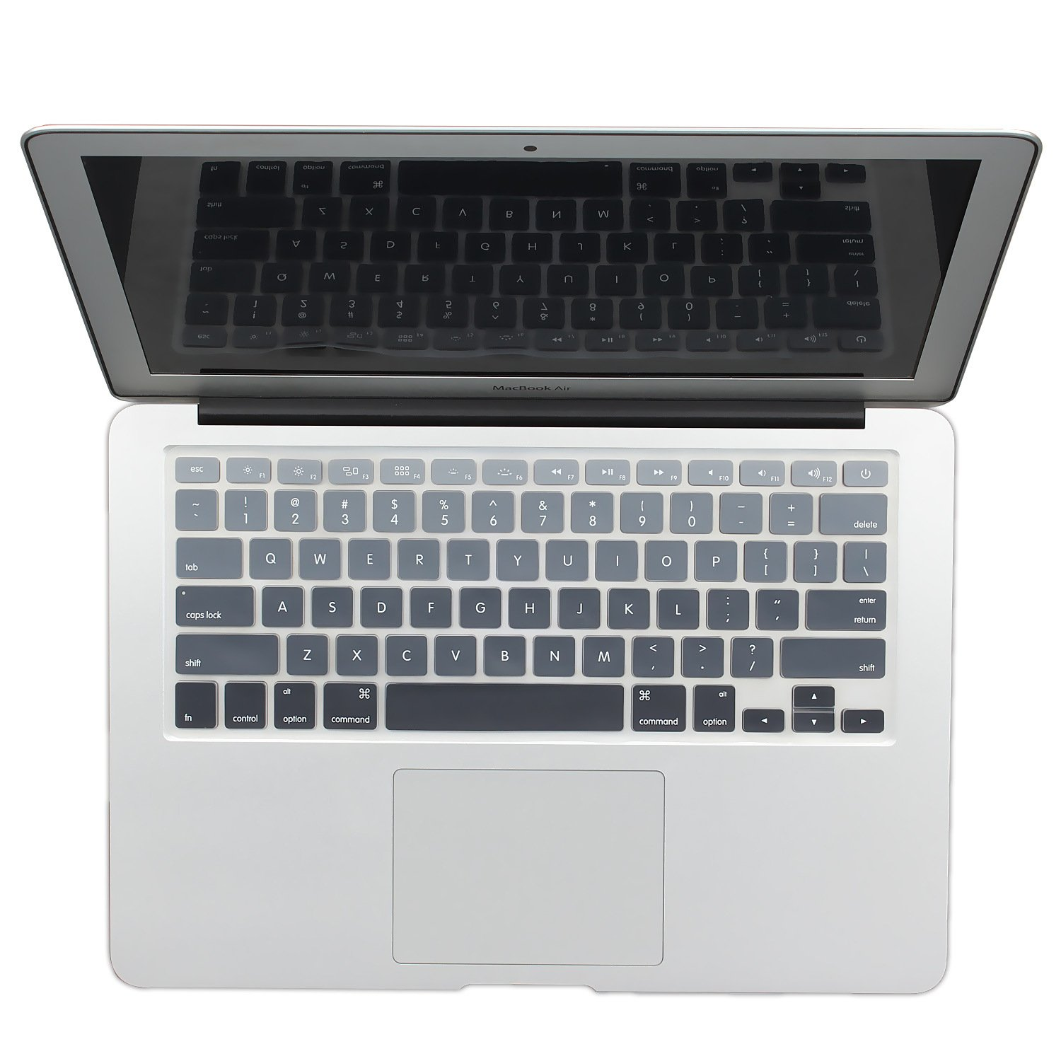 "Batianda New Ombre Color Keyboard Cover Protector Silicone Skin for MacBook Air 13"" MacBook Pro 13"" 15"" 17"" (with or w/Out Retina Display) - Gradient Grey"