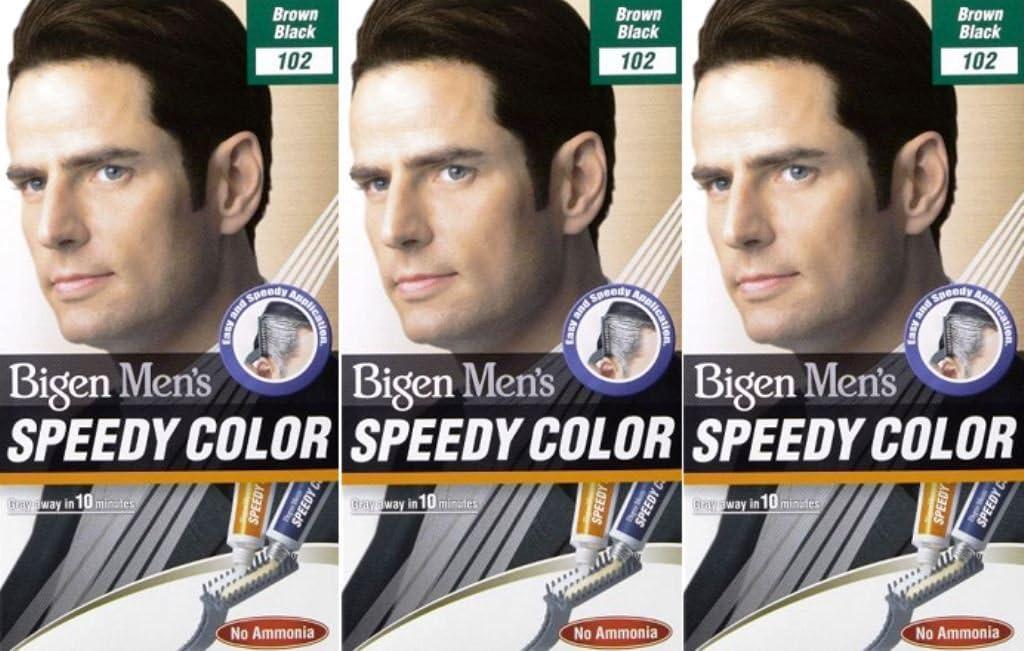 Bigen Speedy - Tinte para cabello para hombre, sin amoníaco, color marrón y negro 102