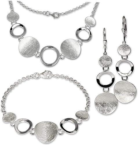 Schmuck Set Collier Halskette und Ohrstecker 925 Stering Silber