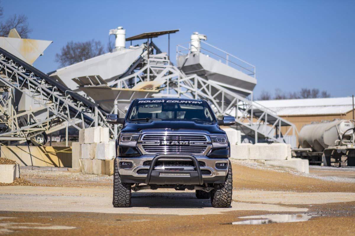 2019 RAM Truck 1500 New Body Push Bar B-D4092 fits Rough Country Black Bull Bar w//LED