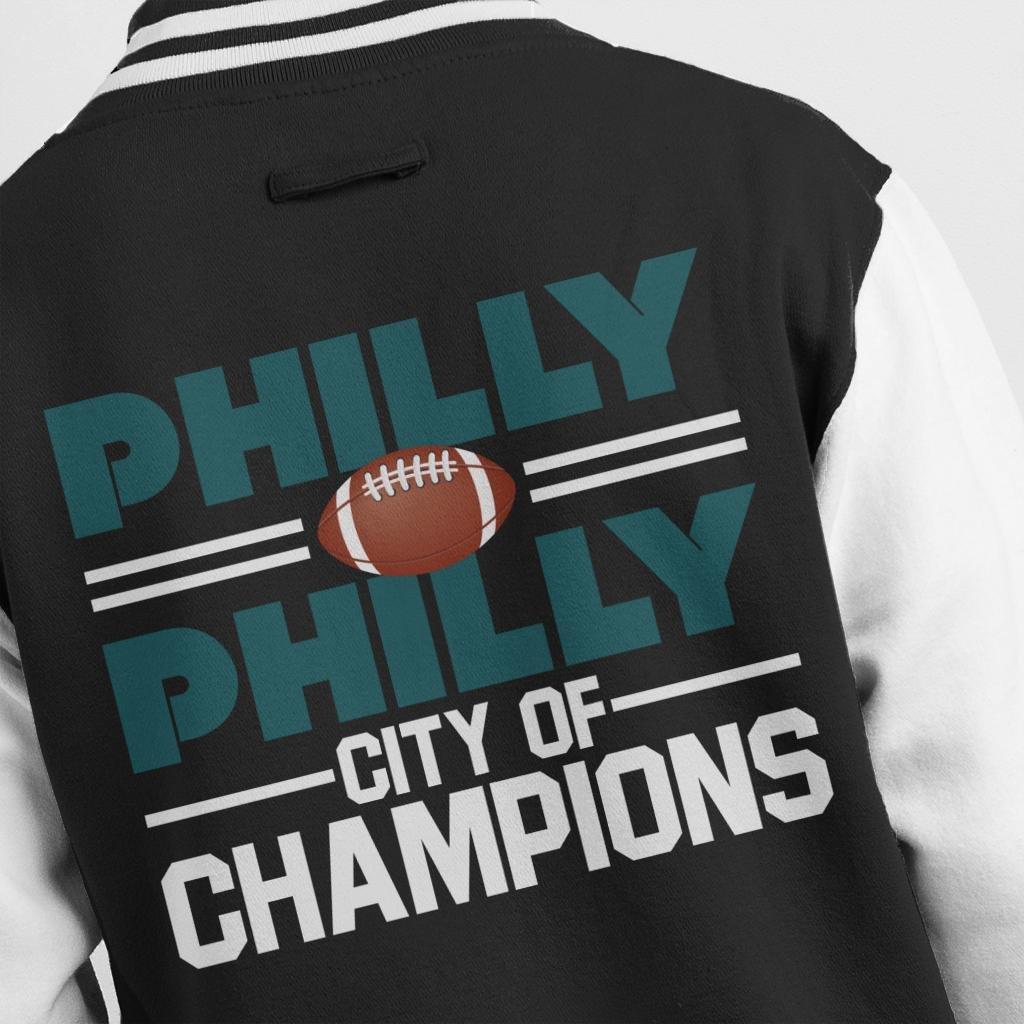 Philadelphia Eagles Philly City of Champions Mens Varsity Jacket
