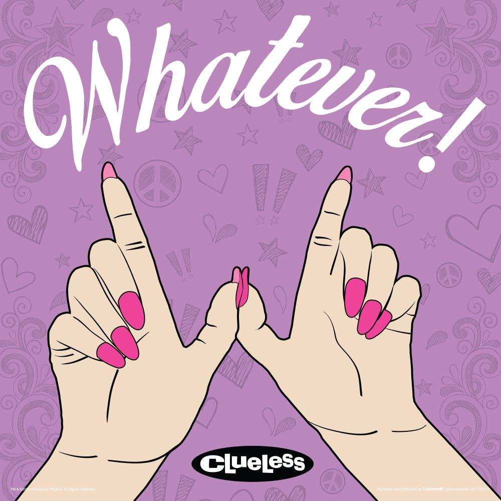 Culturenik Clueless Whatever Hands Teen Comedy Movie Film Poster Print (Unframed 12 x 12 Print)