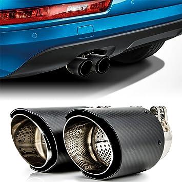 Puntas de escape de fibra de carbono para coches BMW sedán ...