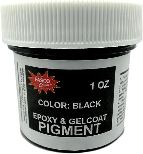 Pigmento negro para resina epoxi, gelcoat, pintura, látex, 1 onza