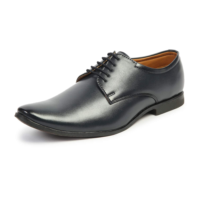 Buy MUTAQINOTI Men's Formal Shoes Blue