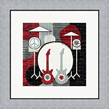 Amazon.com: Rock \'n Roll Drums by Michael Mullan Framed Art Print ...
