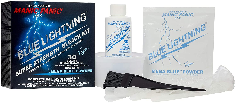 Amazon com: Manic Panic Blue Lightning Hair Bleaching Kit - (Super