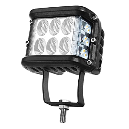 C-FUNN 4Inch Led Work Light 20W 2880Lm Dual Color Side Shooter Que ...