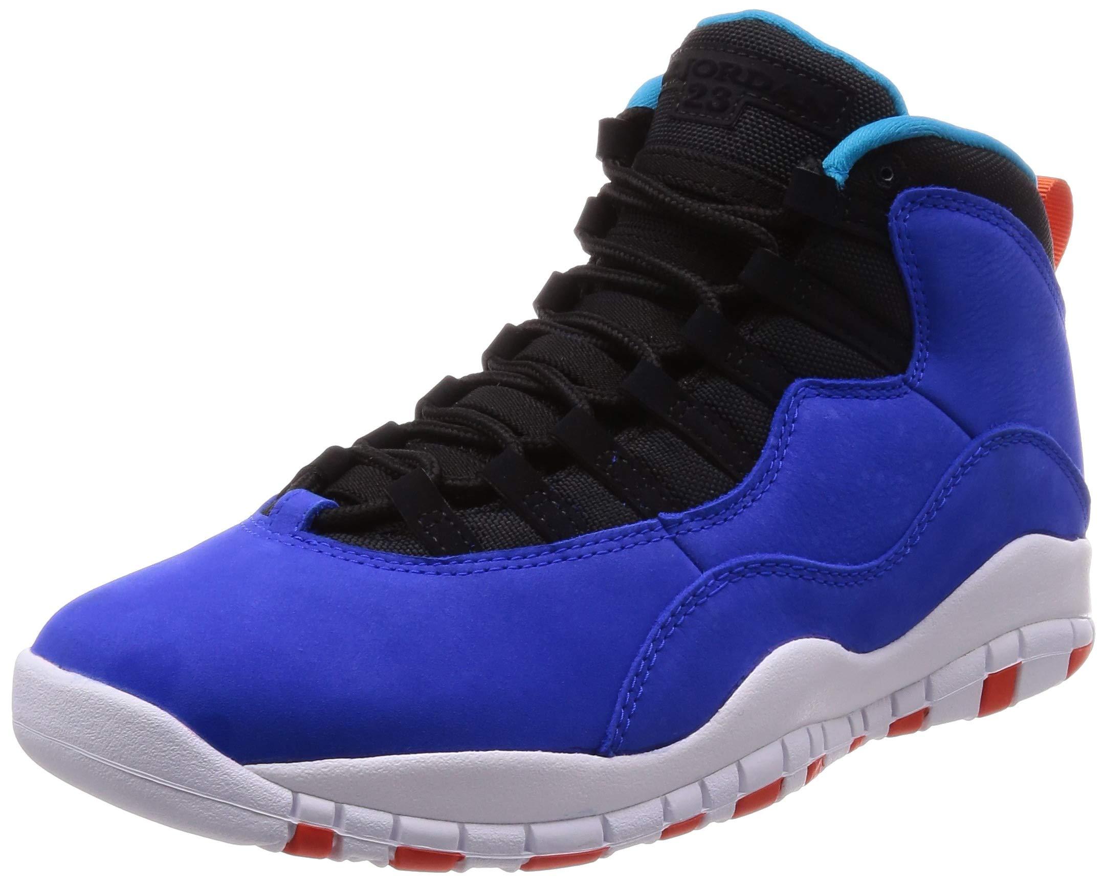 Air Jordan 10 Retro Mens Shoes Racer Blue/Team Orange/Black 310805-408 (10.5 M US) by Nike