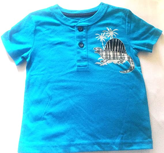 fa547dadb Image Unavailable. Image not available for. Color: Garanimals Toddler Boys  New Size 2T Shirt Short Sleeve Henley Dinosaur Turquoise