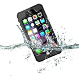 iPhone 6/6s Waterproof Case,Redpepper IP68 Certified Clear Underwater Full Body Built-in Screen Protector Shock/Snow/Dirt proof Extreme Durable Waterproof Case for iPhone 6/6s.(Black)