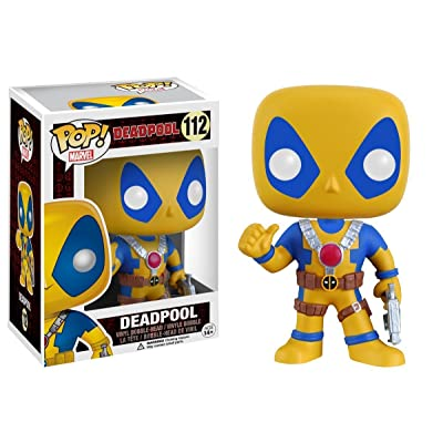 Funko Marvel Deadpool Pop Vinyl Yellow and Blue Suit Exclusive: Toys & Games