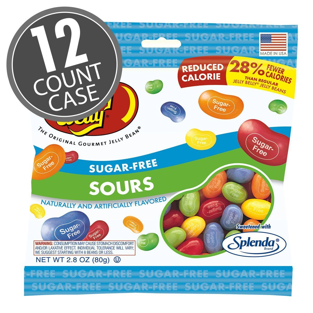 Sugar-Free Jelly Belly Sours Beans 2.1 Pound Case by Jelly Belly