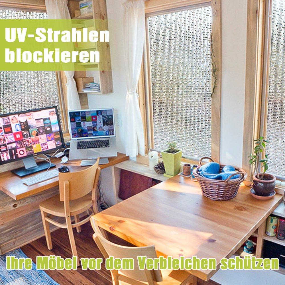 Homein 3D Fensterfolie Klebefolie Für Fenster Blickdicht