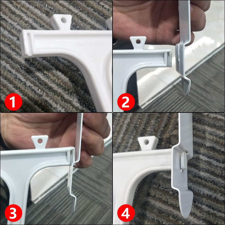 Futurebatt Over The Door Shoe Rack Holder White Hanging Shelf Storage Shoe Organizer with Hooks 36 Pairs