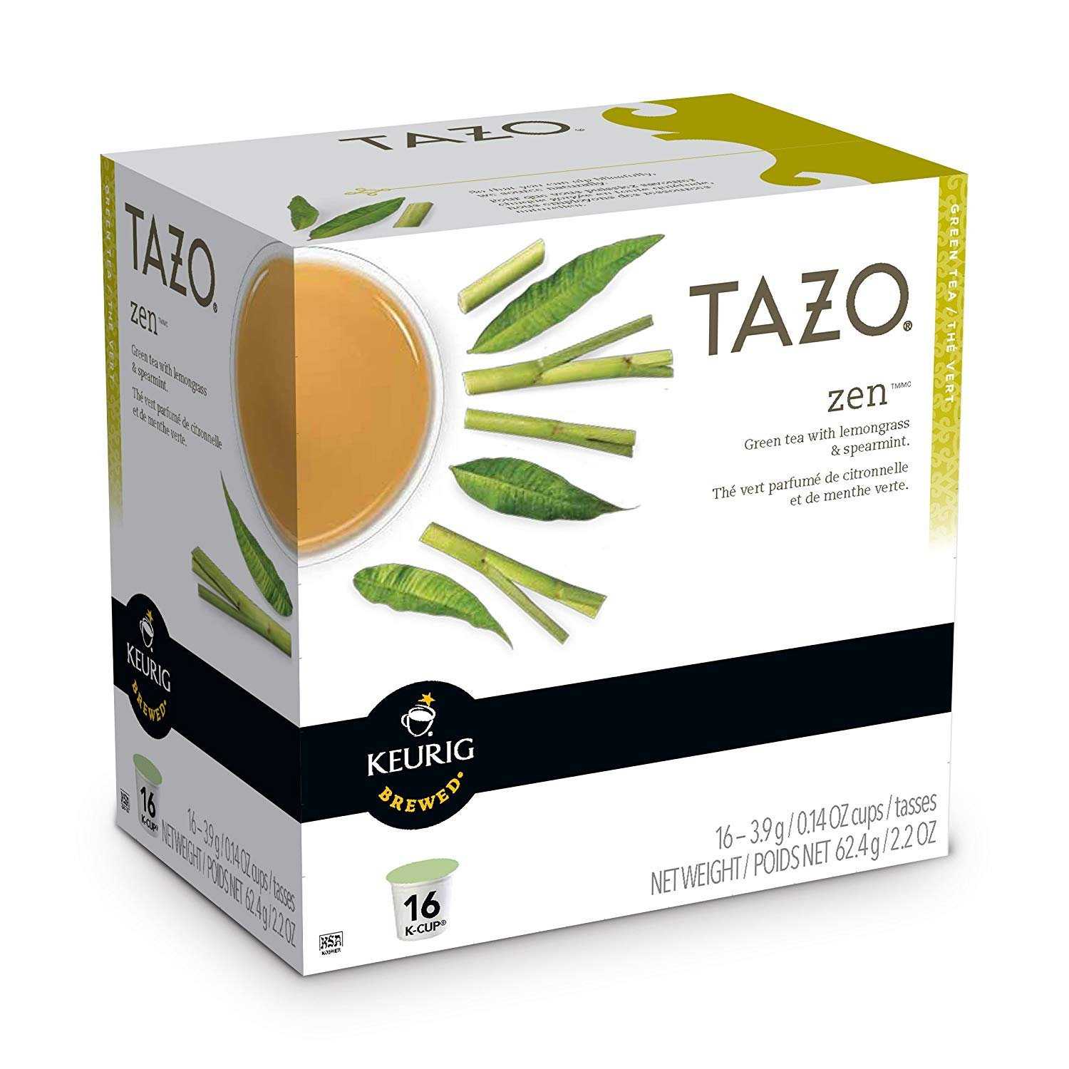 Tazo Zen Green Tea Keurig K-Cups 64 Count (4) by Starbucks