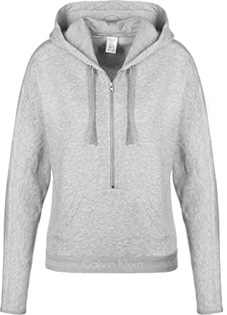 sneakers for cheap 6d423 a2c86 Calvin Klein Damen Kapuzensweatshirt Half Zip Hoodie