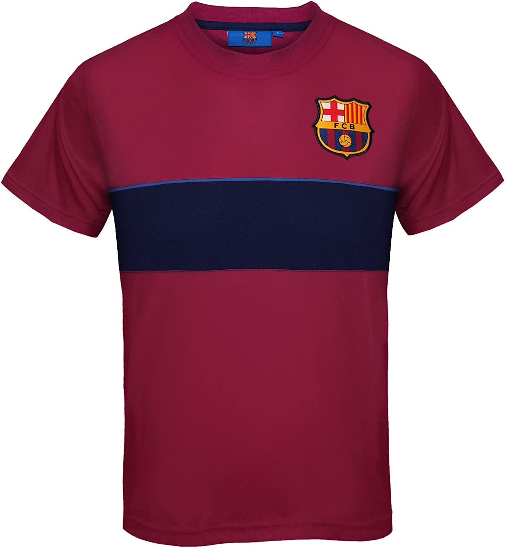 Barcelona FC Official Football Gift Boys Poly T Shirt Short Sleeve Top Training