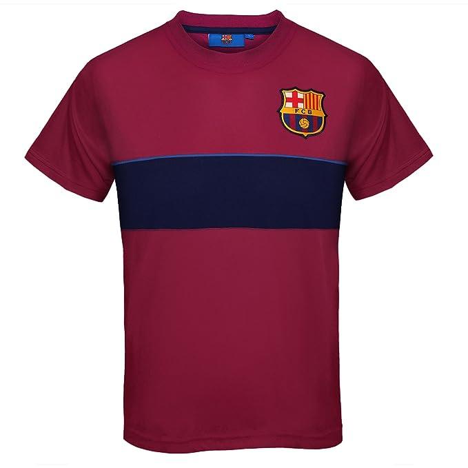 514a003cdb1be FC Barcelona - Camiseta oficial de entrenamiento - Para niño - Poliéster   Amazon.es  Ropa y accesorios