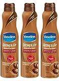 Vaseline Spray & Go Moisturizer - Pack of 3 - Total Moisture 6.5 oz Each