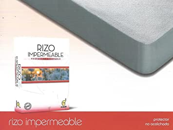 Protector de colchon Rizo Impermeable en Medida 120 x 190/200 cm: Amazon.es: Hogar