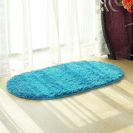 morbido decorazione per la casa di forma ovale antiscivolo assorbente colore: beige Tappeto da bagno morbido