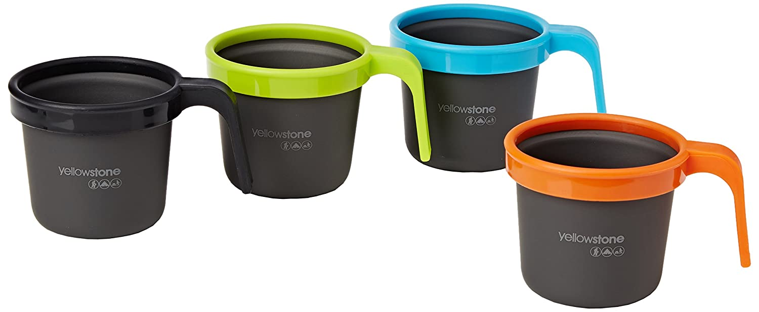YELLOWSTONE ALUMINIUM CUP PACK OF 4 (GRAPHITE) (Parallel Imported Product)   B00HUV4TC2