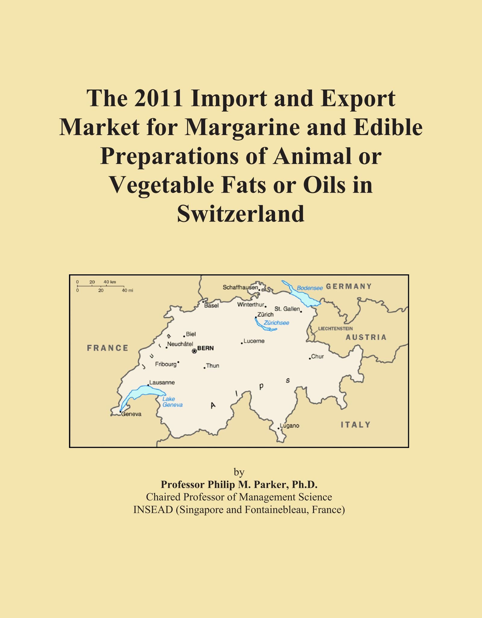 The 2011 Import and Export Market for Margarine and Edible Preparations of Animal or Vegetable Fats or Oils in Switzerland PDF