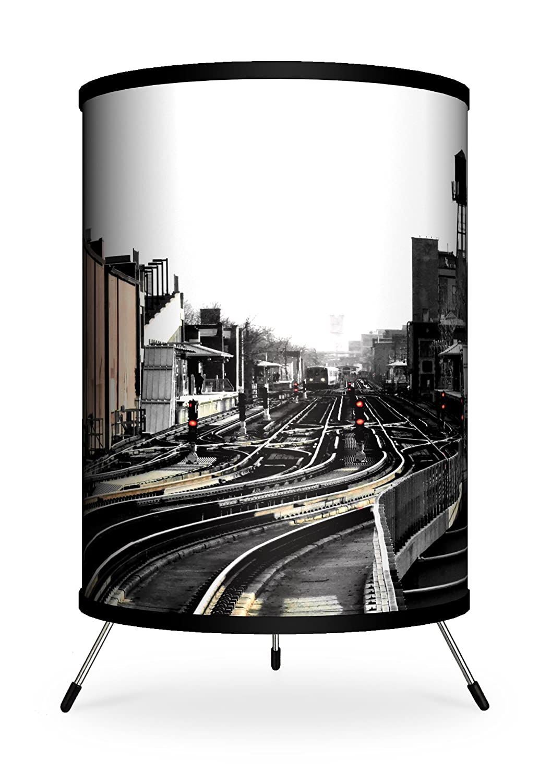 Lamp-In-A-Box TRI-FAR-MLEXP Featured Artists Miki Lansdowne Explore Tripod Lamp 8 x 8 x 14