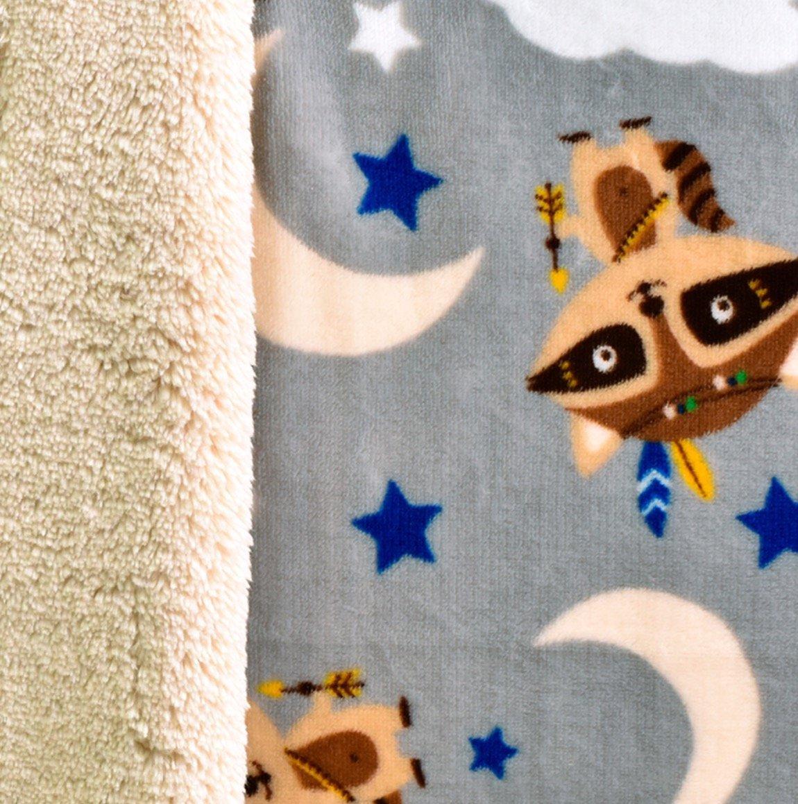 KESS InHouse Heidi Jennings Tribal Chevron Black Fleece Baby Blanket 40 x 30