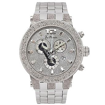 Amazon.com  Joe Rodeo Diamond Men s Watch - BROADWAY silver 5 ctw ... f99acddef