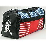 "Taekwondo Sparring Gear Martial Arts Gear Equipment Bag Tae Kwon Do Karate MMA American Flag Big Bag 13""x27""x14"""