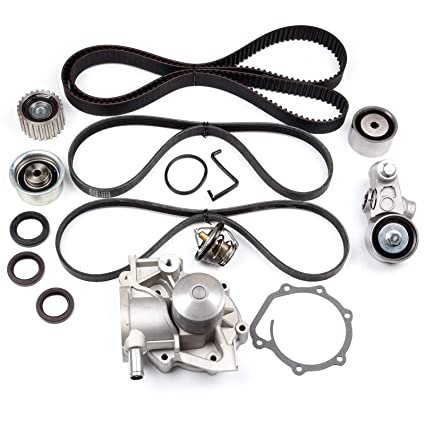SCITOO Engine Timing Part Belt Set Timing Belt Kits fit Subaru Outback 2.5L SOHC H4 Non-Turbo 2006-2009 Replacement Timing Tools with Water Pump