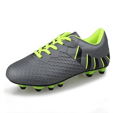 7bb955cb6f625 Hawkwell Comfortable Soccer Shoes(Toddler/Little Kid/Big Kid),Grey Green