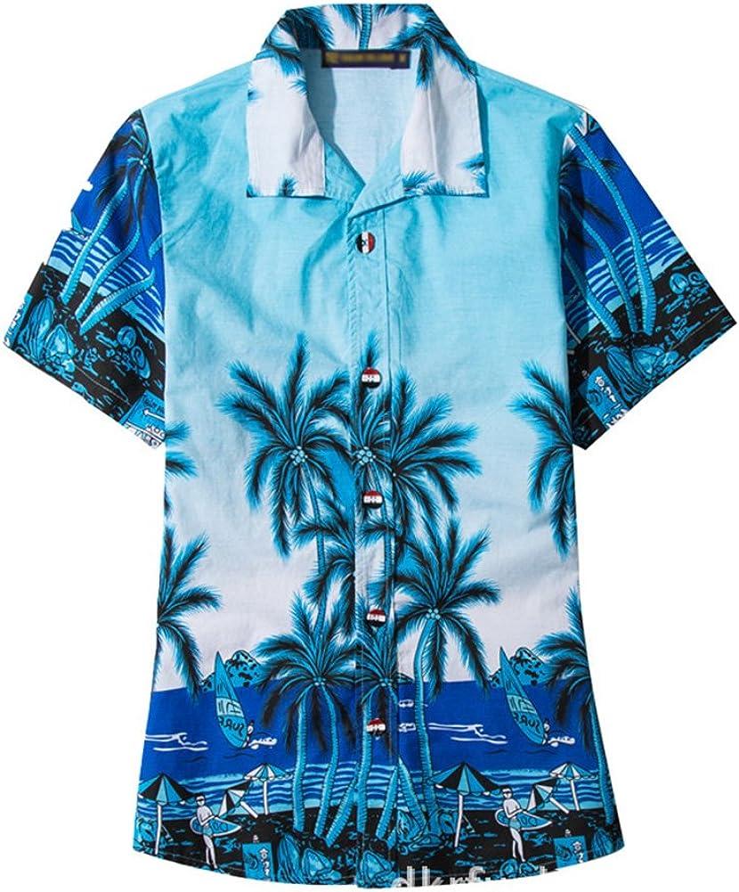 Alician Summer Beach Loose Parent-Child Clothes Fashion Casual Hawaiian Style Shirt