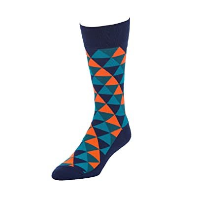 STROLLEGANT Revel Men Crew Casual Cotton Socks 1 Pairs (Navy), Sock Size 10-13 at Men's Clothing store