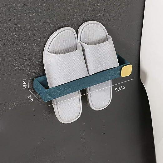 Plastic Shoes Holder Storage Organizer,Door Shoe Hangers Bathroom Shoe Hangers Blue V-Shine Wall Mounted Shoes Rack 4 Pcs with Sticky Hanging Mounts