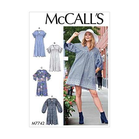 McCall's Womens Smock Dresses Size LXL Sewing Pattern M40 Fascinating Smock Dress Pattern