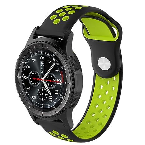 Pinhen Bracelet de montre en silicone à déblocage rapide, 20 mm, bracelet de remplacement