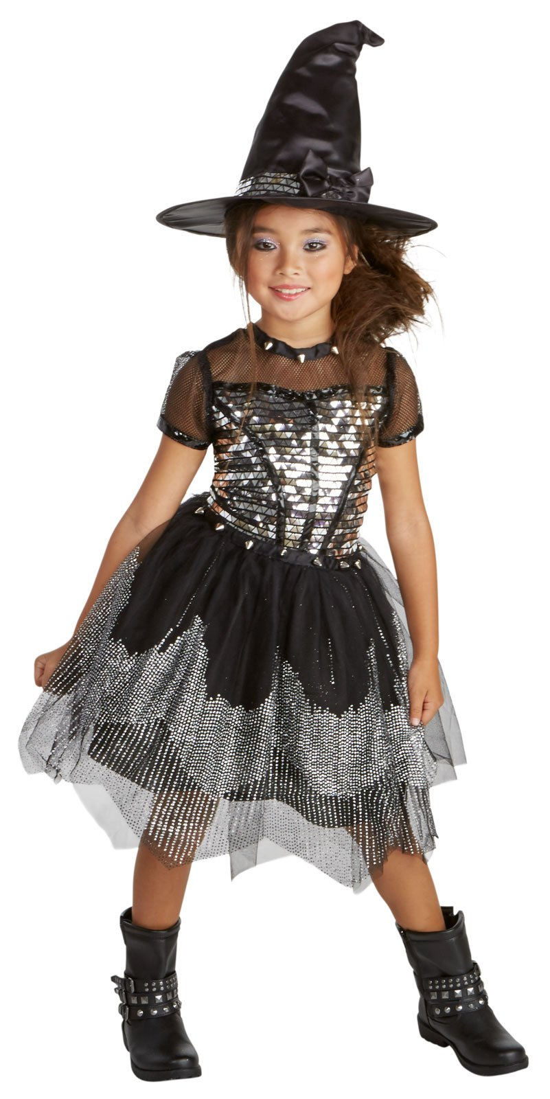 Silver Rock Witch Child Costume (8-10)