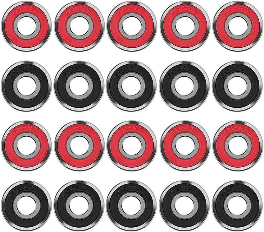 NiceButy 8pcs plástico Rojo blindado Miniatura 608-2RS rodamientos ...