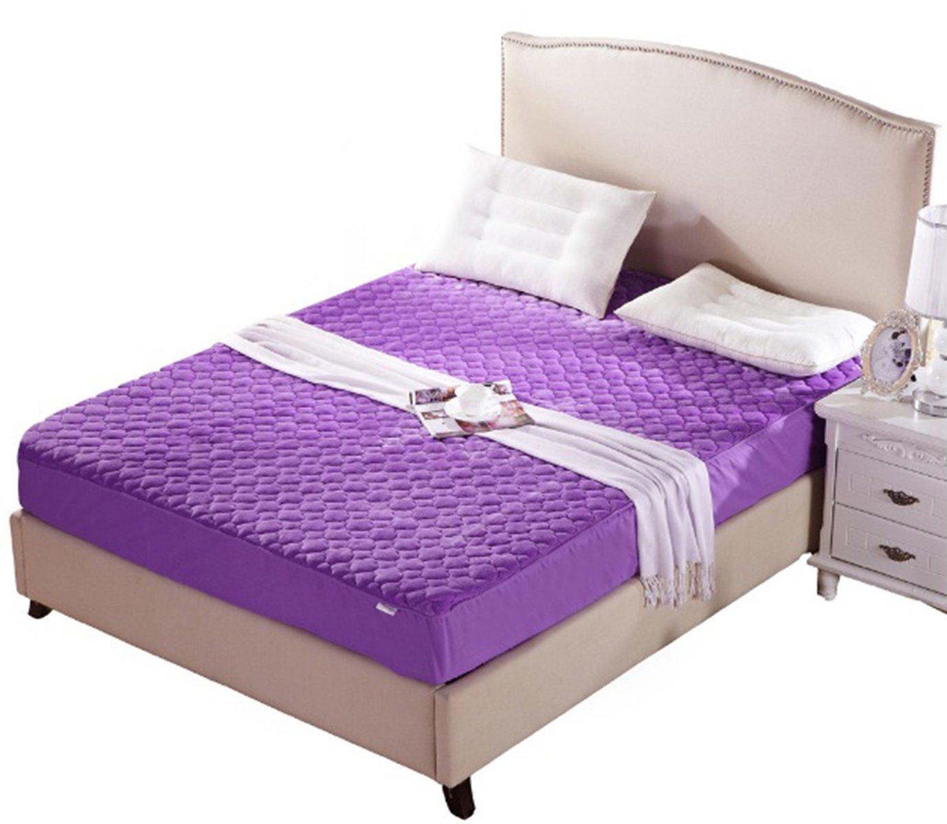 Alaska2You Contour 8 Inch Mattress Protector, Mattress Queen, Purple