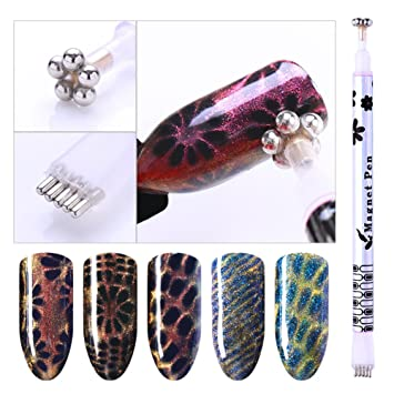 Coulorbuttons 2pcs Nail Art Magnet Stick Board Dual End Flower