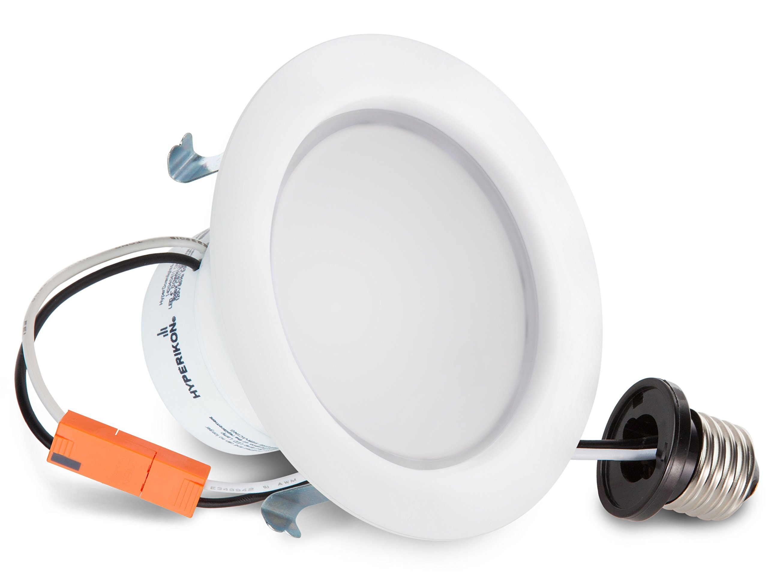 Hyperikon 4 Inch Dimmable Recessed LED Downlight, 9W (65W Equivalent), 2700K (Warm White), CRI94, Retrofit Lighting Fixture, ENERGY STAR, 630 Lumens - Great for Cans in Bathroom, Kitchen, Office